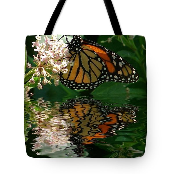 Monarch Reflection Tote Bag