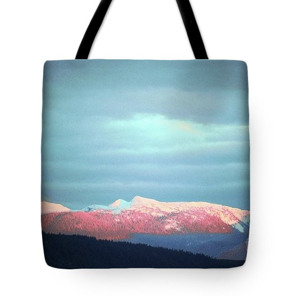 Monashee Sunset Tote Bag by Victor K