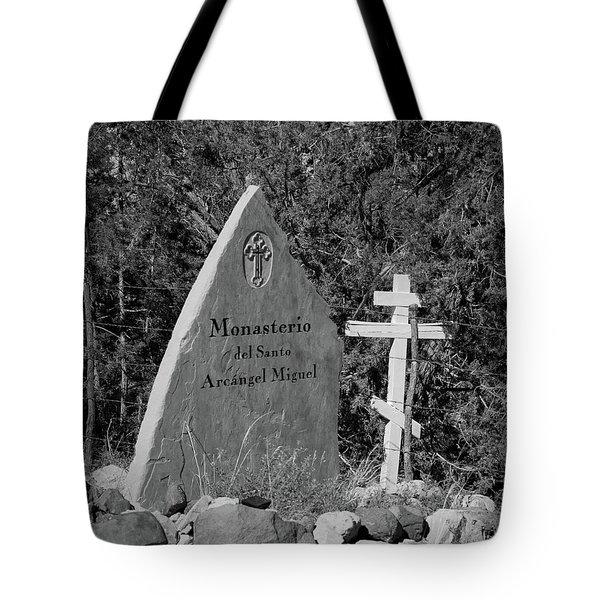Monasterio Del Santo Arcangel Miguel Tote Bag