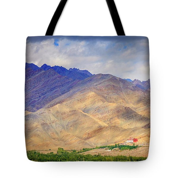 Tote Bag featuring the photograph Monastery In The Mountains by Alexey Stiop