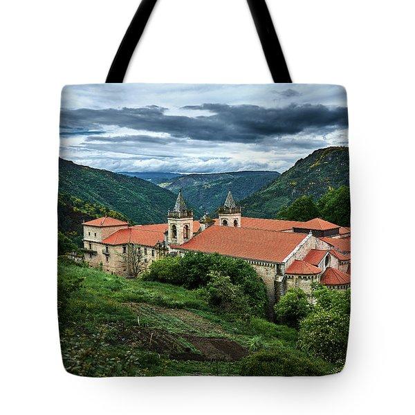 Monastery Of Santo Estevo De Ribas Del Sil Tote Bag