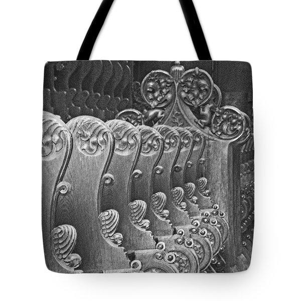 Monastery Pews Tote Bag