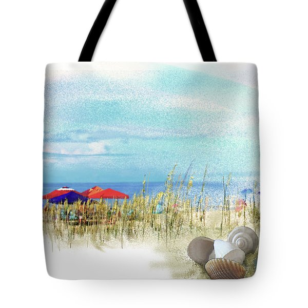Tote Bag featuring the digital art Monday Afternoon by Gina Harrison