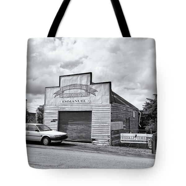 Tote Bag featuring the photograph Monegeetta Produce Store by Linda Lees