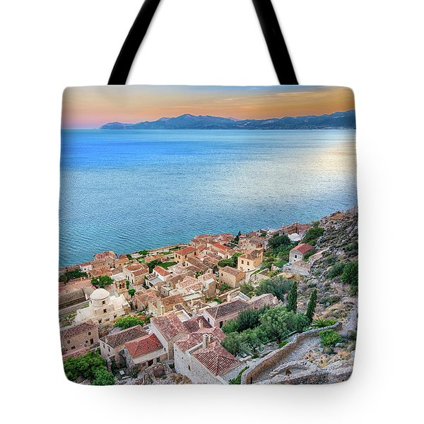 Monemvasia / Greece Tote Bag by Stavros Argyropoulos