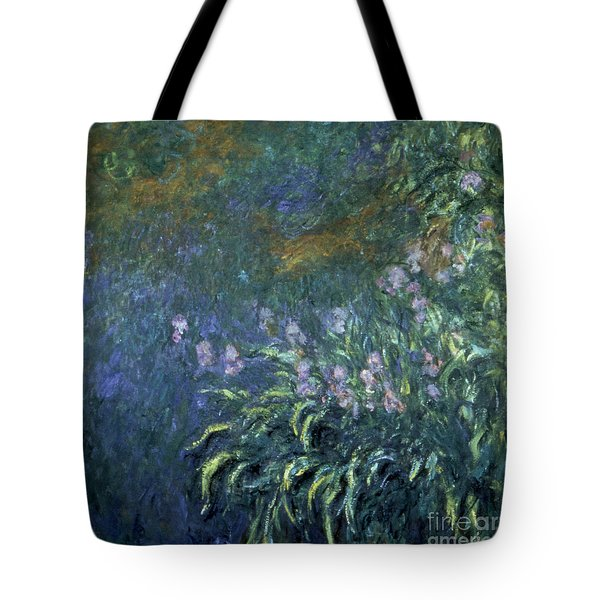 Monet: Irises By The Pond Tote Bag by Granger