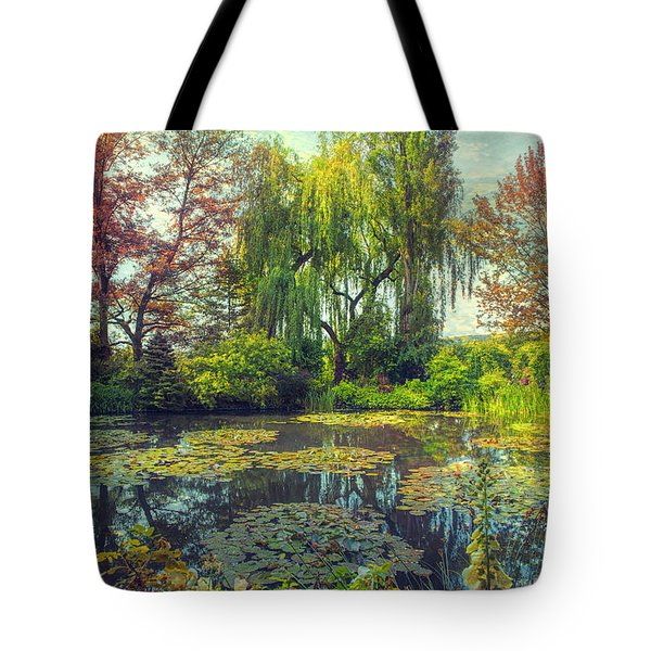 Monet's Afternoon Tote Bag by John Rivera