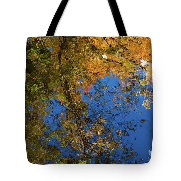 Tote Bag featuring the photograph Monet's Autumn Pool by Lon Dittrick