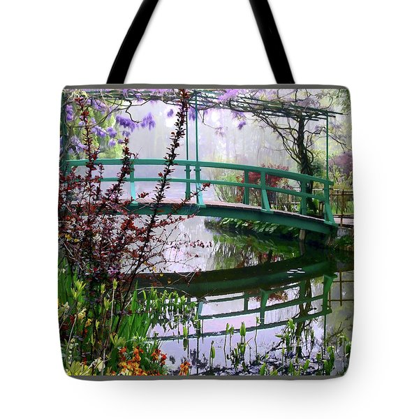 Monet's Bridge Tote Bag by Jim Hill