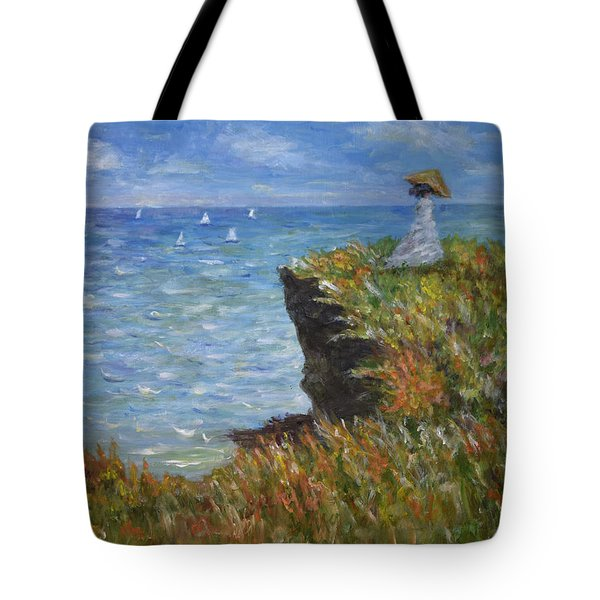 Monet's Cliffs Tote Bag
