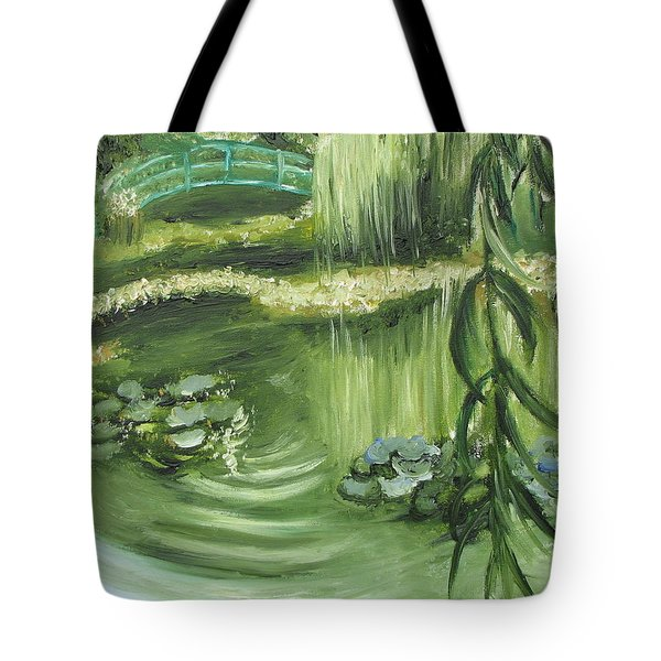 Monet's Garden Tote Bag by Tina Swindell