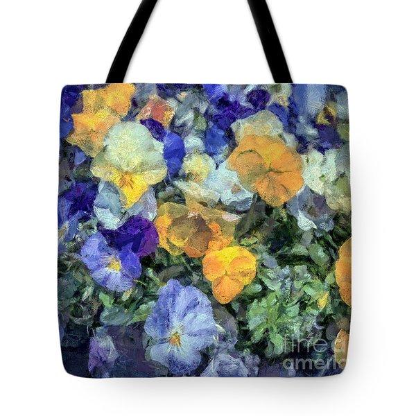 Monet's Pansies Tote Bag