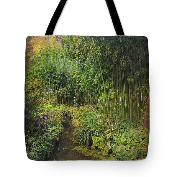 Monets Paradise Tote Bag by John Rivera