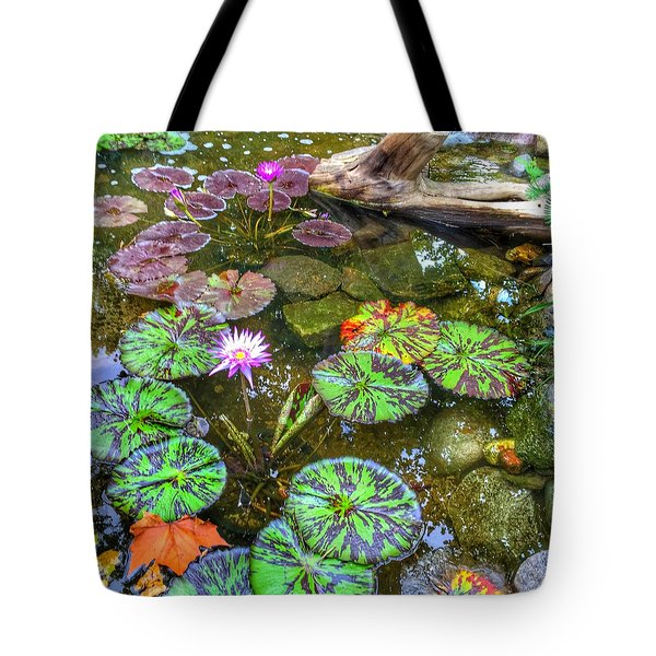Monet's Pond At The Fair Tote Bag by Jame Hayes