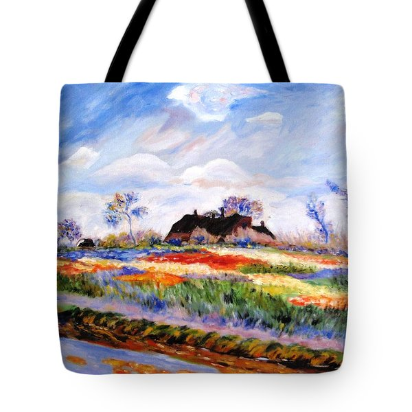 Monet's Tulips Tote Bag by Jamie Frier