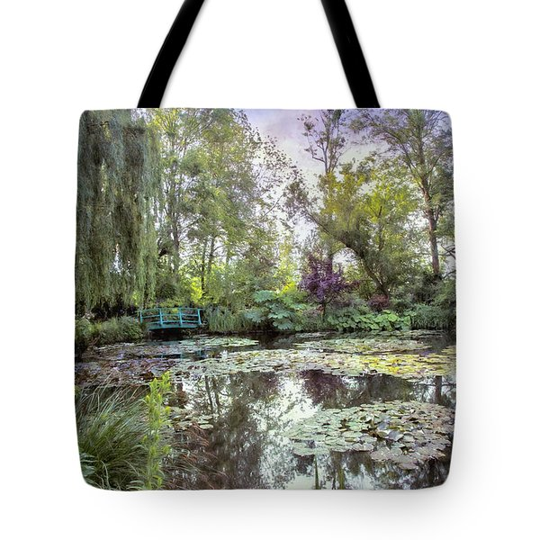 Tote Bag featuring the photograph Monet's Water Garden by John Rivera