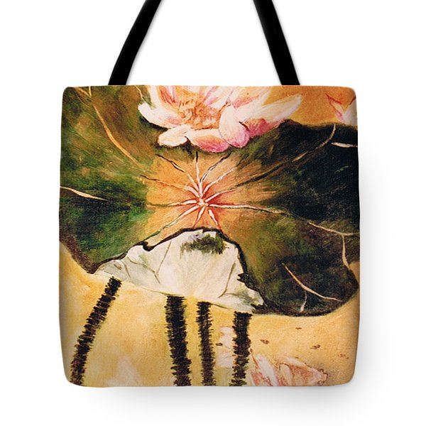 Monet's Water Lily Tote Bag