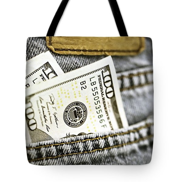 Tote Bag featuring the photograph Money Jeans by Trish Mistric
