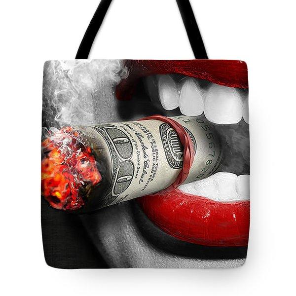 Money To Burn Tote Bag