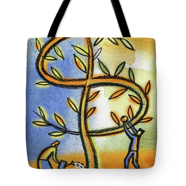 Tote Bag featuring the painting Money Tree by Leon Zernitsky