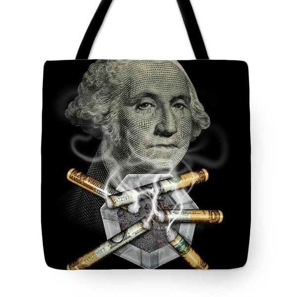 Money Up In Smoke Tote Bag