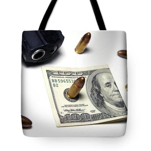 Money, Weapons And Power Tote Bag