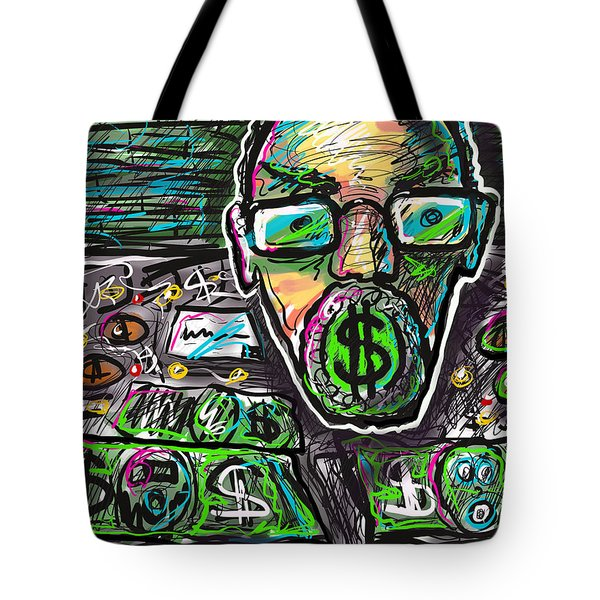 Tote Bag featuring the digital art Money Where Your Mouth Is by Joe Bloch