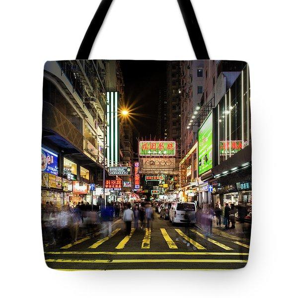 Mong Kok Crosswalk Tote Bag