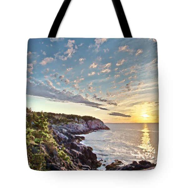Monhegan East Shore Tote Bag by Tom Cameron