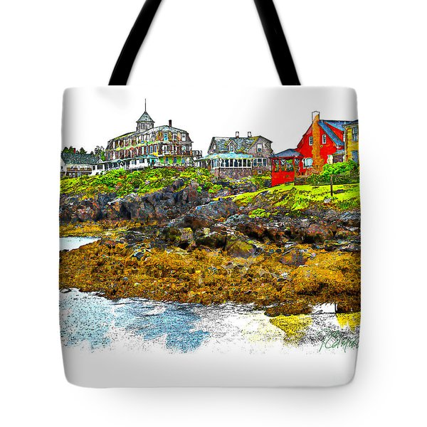 Monhegan West Shore Tote Bag