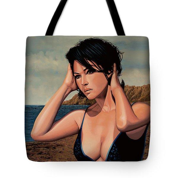 Monica Bellucci 2 Tote Bag by Paul Meijering