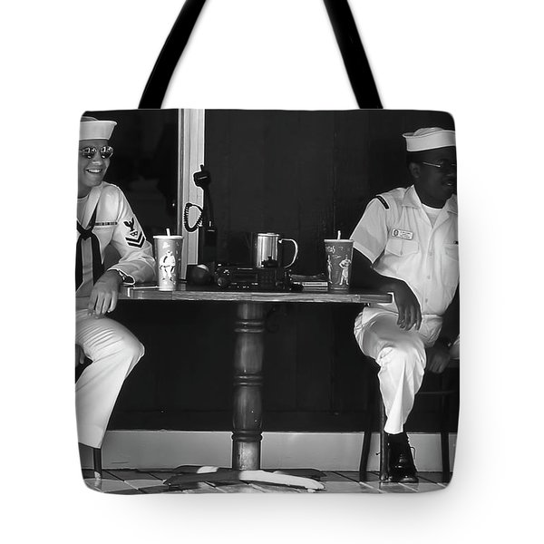 Ebony And Ivory Tote Bag