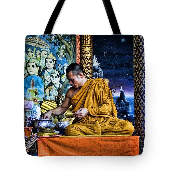 Monk At Big Buddha  Tote Bag