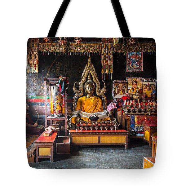 Kathmandu Monk Tote Bag