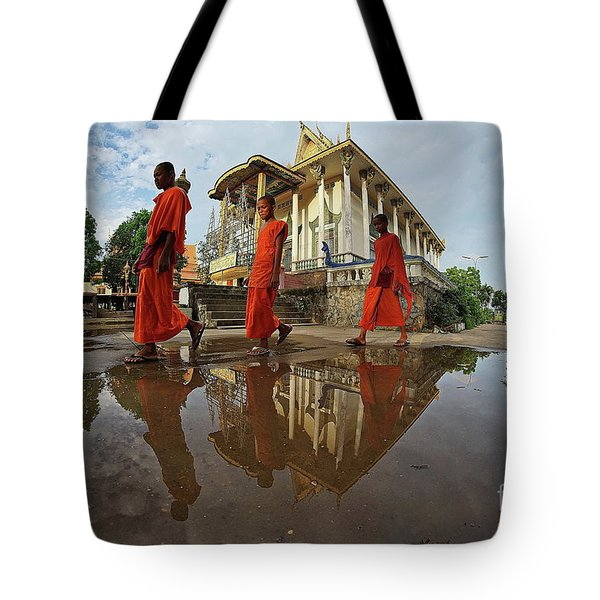 Monk Back Home Tote Bag