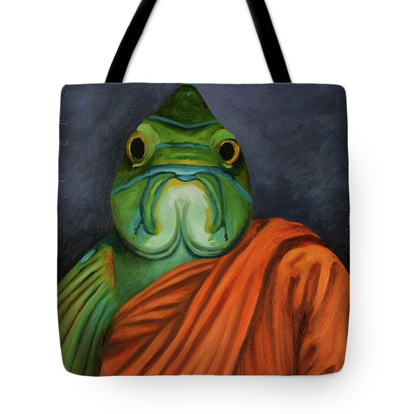 Monk Fish Tote Bag by Leah Saulnier The Painting Maniac