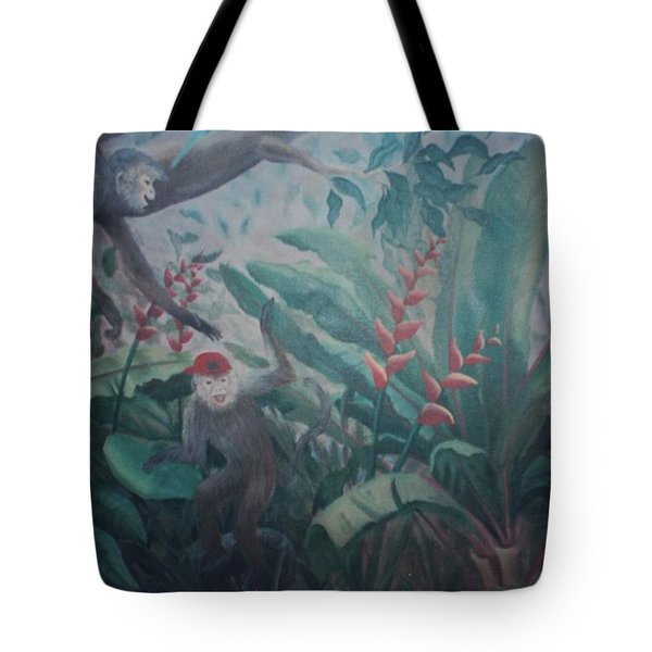 Monkees In The Jungle Tote Bag