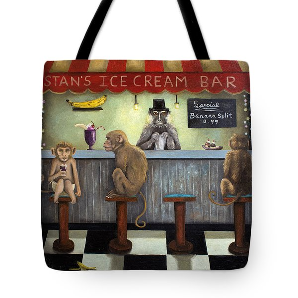 Monkey Business Tote Bag by Leah Saulnier The Painting Maniac