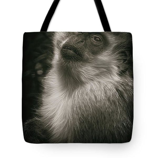 Monkey Portrait Tote Bag