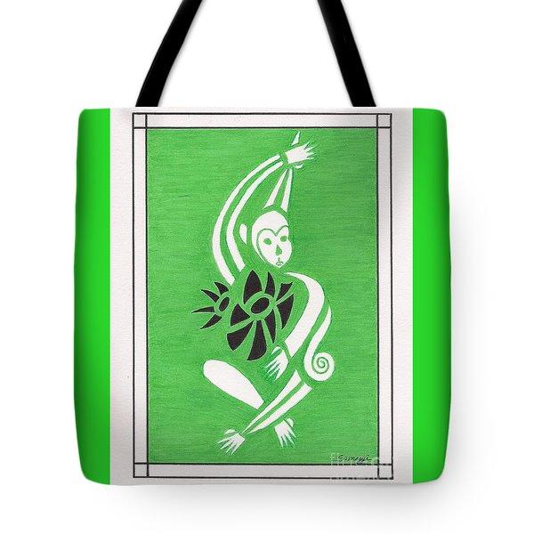 Monkeying Around -- Whimsical Stylized Monkey Tote Bag