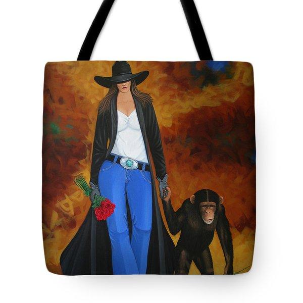Monkeys Best Friend Tote Bag