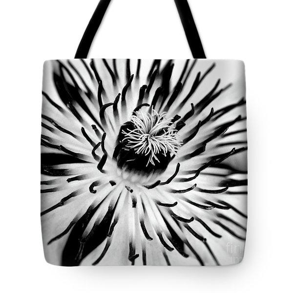 Mono Clematis Tote Bag