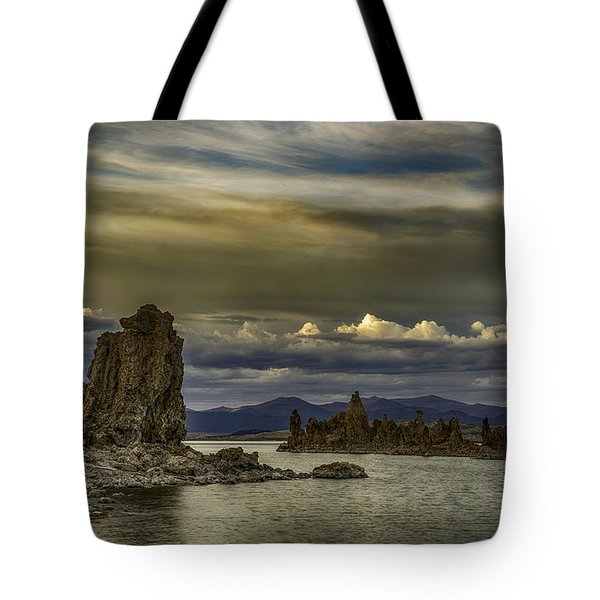 Mono Lake, Fall Sunset Tote Bag by Janis Knight