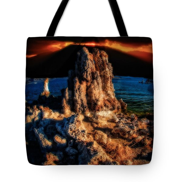 Tote Bag featuring the photograph Mono Lake Sunset by Harry Spitz