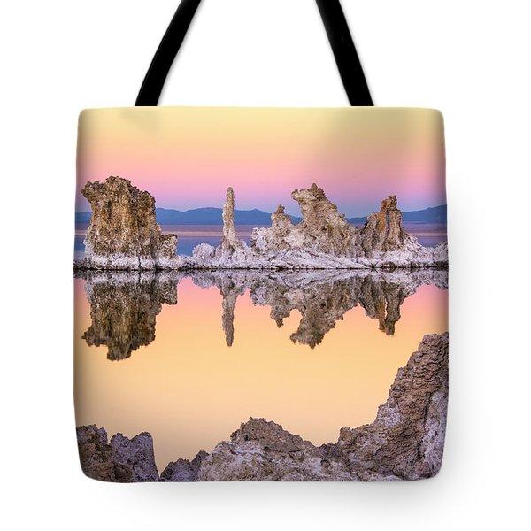Mono Lake Through A Tufa Frame Tote Bag