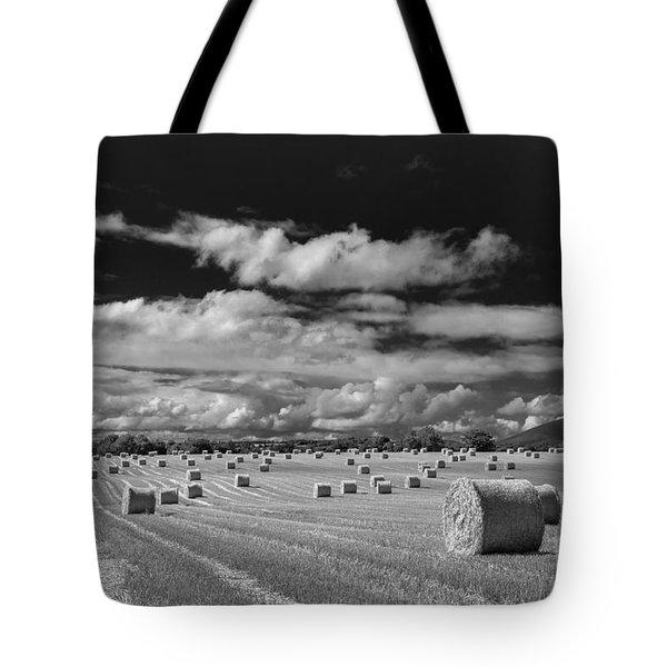 Mono Straw Bales Tote Bag