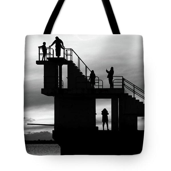 Mono Sunset Blackrock  Tote Bag