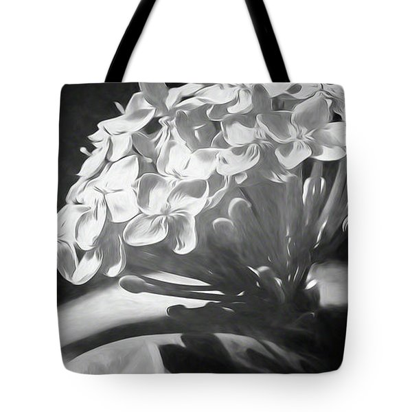 Monochrome Flora Tote Bag