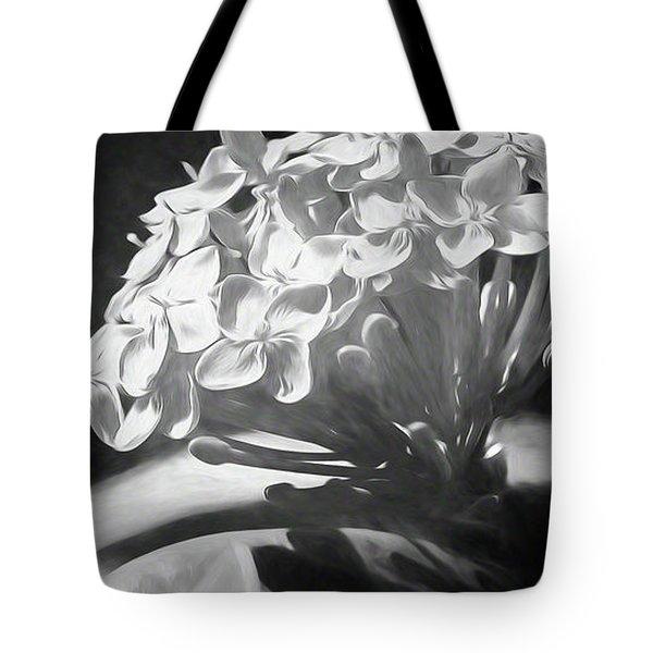 Monochrome Flora Tote Bag
