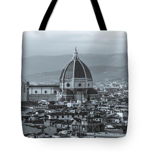 Monochrome Florence Tote Bag by David Warrington
